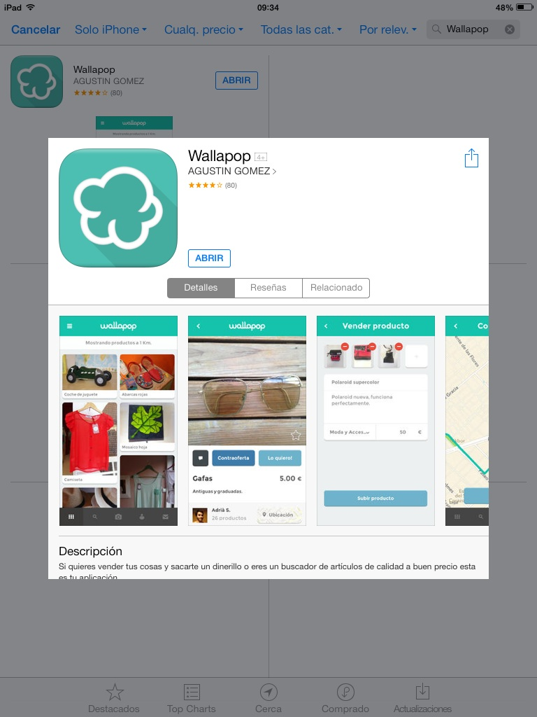 Mundo app wallapop libreta en blanco for Wallapop armarios