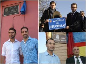 Adrián, Casillas e Iniesta