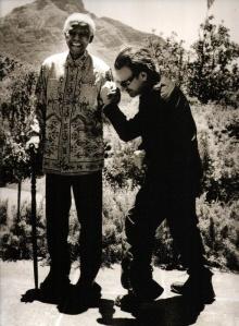 Mandela y Bono