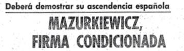 Mazurkiewicz nacionalidad